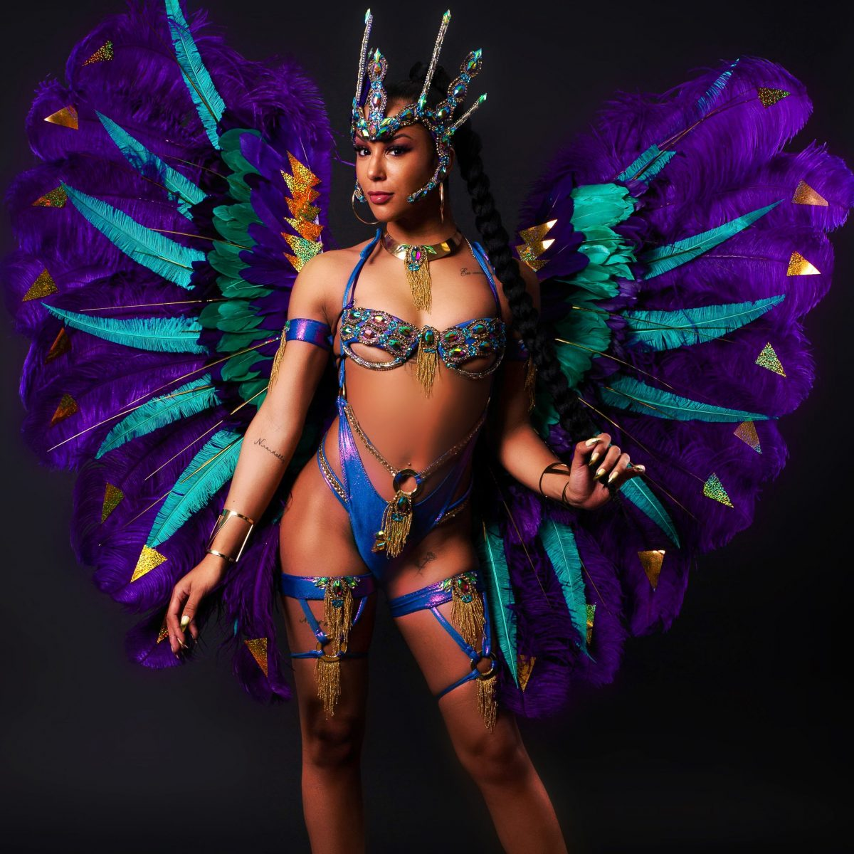 Caribbean Love - Rhythm & Rhyme - Large Shoulderpiece & Crown